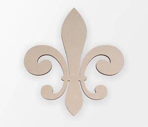 Wooden Symbol Fluer De Lis - Wooden Cut Out, Wall Art, Home Decor, Wall Hanging