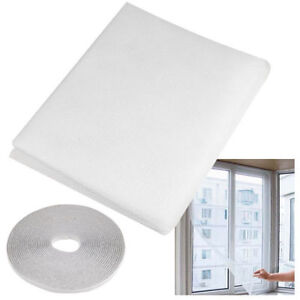 Window-insect-bug-mosquito-fly-wasp-screen-mesh-net-130x150cm-white-UK-stock