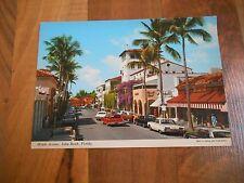 Old Vintage Postcard Worth Avenue Palm Beach Florida John Hinde E. Ludwig RPPC