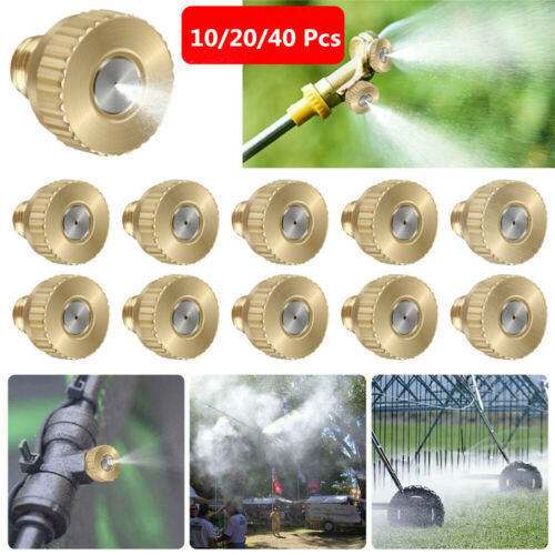 20//40 Brass Misting Nozzles Water Mister Sprinkle For Cooling System Garden Tool