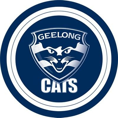 Afl Geelong Cats Cake Topper Edible Image Birthday Party Decoration Round Ebay