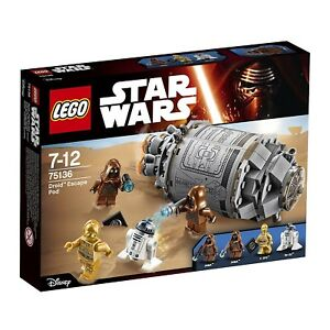 LEGO-STAR-WARS-75136-DROID-ESCAPE-POD-BNIB-NEW-SEALED-C-3PO-R2-D2-FAST-P-amp-P