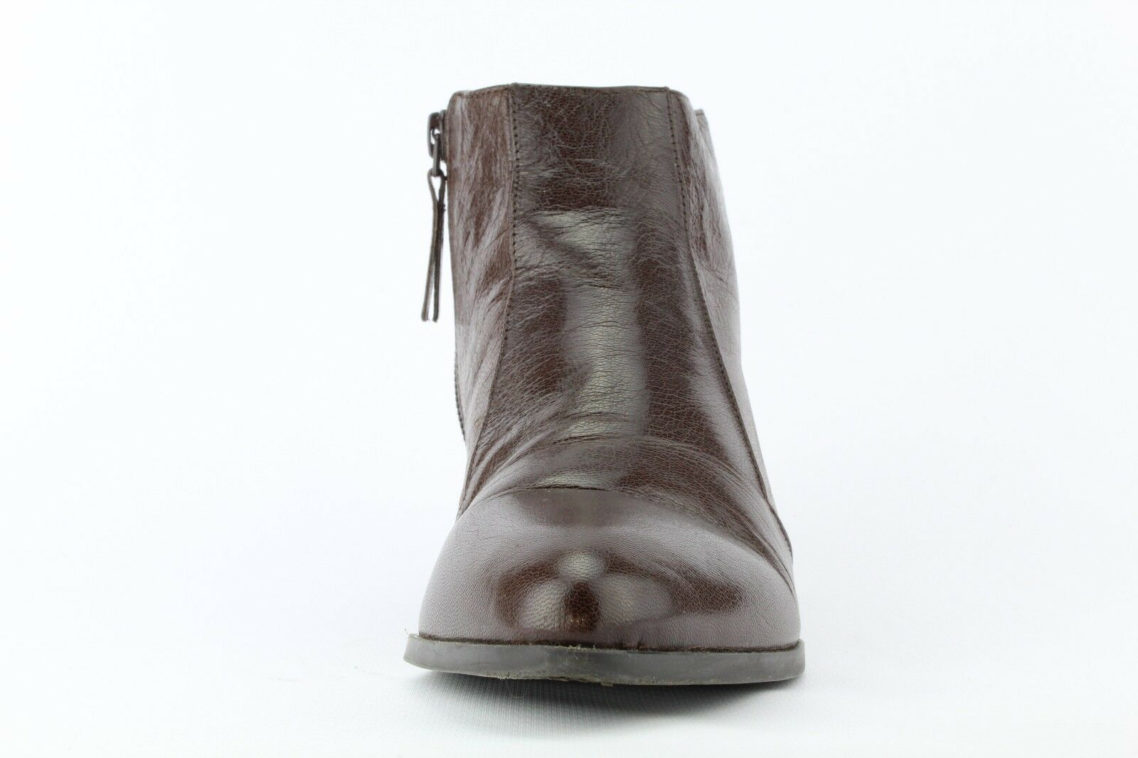 Nine West Women's Brown Brown Brown Leather Dopler Zip Bootie Size 7M 57a0a1