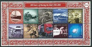 NEW-ZEALAND-2001-MOVING-THE-MAIL-MINIATURE-SHEET-UNMOUNTED-MINT-MNH