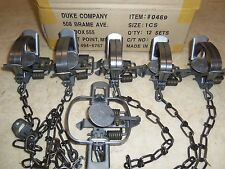 6  Duke #1 Coil Spring Traps Raccoon Mink Nutria Muskrat (1/2 Dz.) Trapping 0469