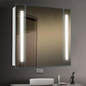 Large Bathroom Mirror Glass Cabinet Led Light Upshaver Socket