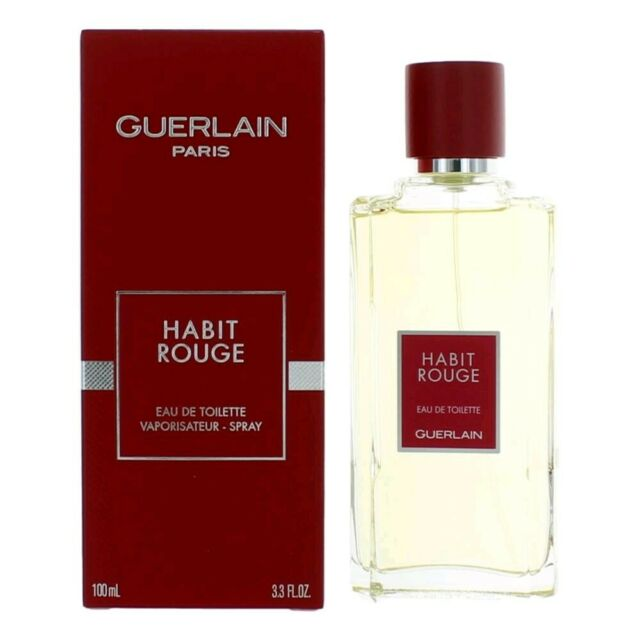 Guerlain Habit Rouge 3 4oz Men S Eau De Cologne For Sale Online Ebay