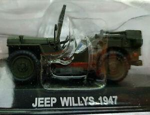 Jeep-Willys-1947-Carabinieri-Scala-1-43-Atlas-Nuovo