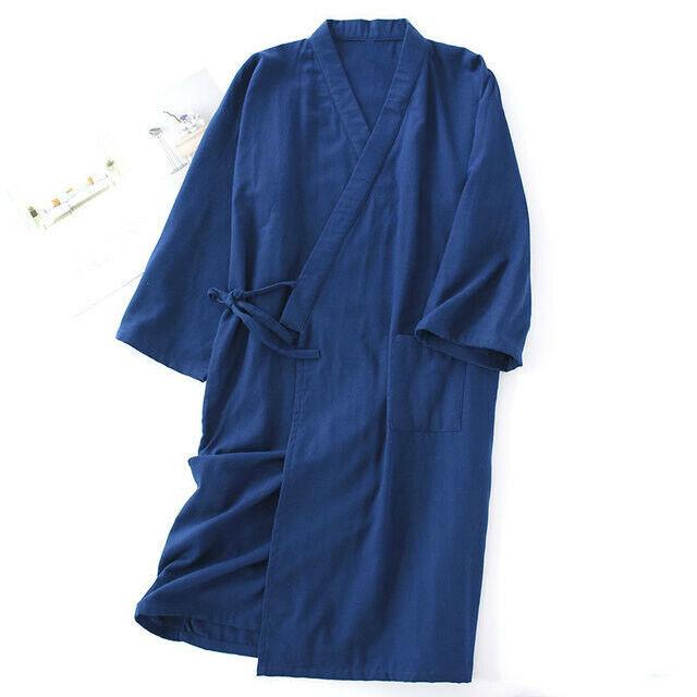 Men/'s Kimono Yukata Pajamas Cotton Japanese Bathrobe Robe Gown Nightwear Home H6