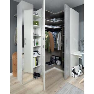 Armadio moderno ad angolo con libreria mod cls aalp for Armadi design moderno