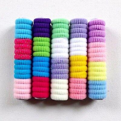80x Baby Ragazze Elastico Coda Di Cavallo Hairband Morbida Fascia Per Capelli Infiniti Colori Assortiti-