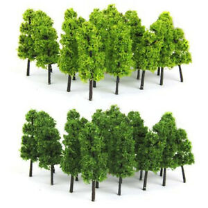 20pcs-Model-Trees-Train-Railroad-Diorama-Wargame-Park-Scenery-HO-scale-60mm-Mini