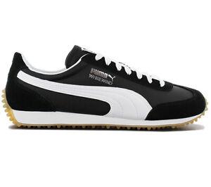 Puma-Whirlwind-Classic-Sneaker-351293-90-Negro-Zapatos-Retro-Fashion-Deportivas