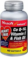 Mason Natural Heart Trio Co Q-10, Vitamin E And Fish Oil 60 Soft Gels (5 Pack) on sale