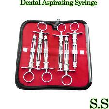 6 Pcs Aspirating Syringe Cw Type 18ml Kit Dental Insturments Dl 06