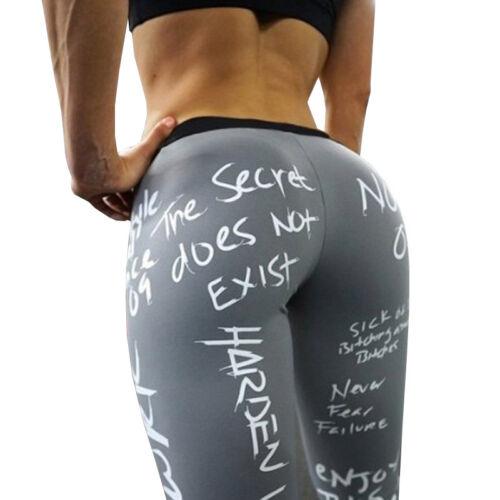 Damen Hohe Taille Leggings Yogahose Gym Fitness Sport Skinny Jogginghose Drucken