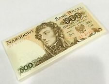 POLAND 500 ZLOTYCH 1982 P 145 UNC (BUNDLE of 100 NOTES)