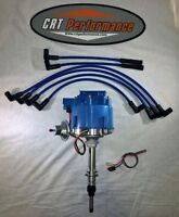Chevy Inline 6 Straight 6 194-230-250-292 Hei Distributor + Blue 8mm Plug Wires