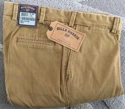NWT-Bills khakis M3-KAST Size 44 PLAIN TRIM FIT KHAKI STRETCH TWILL $165