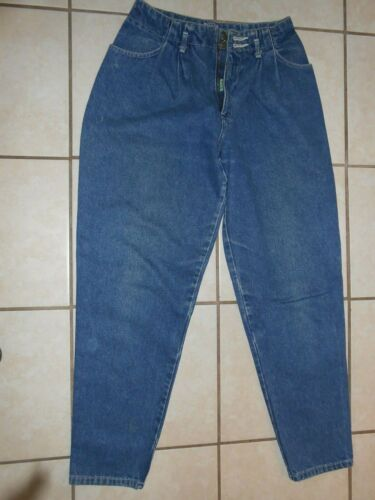 VTG CALVIN KLEIN BLUE JEANS 9/10 SOLID COTTON 28""