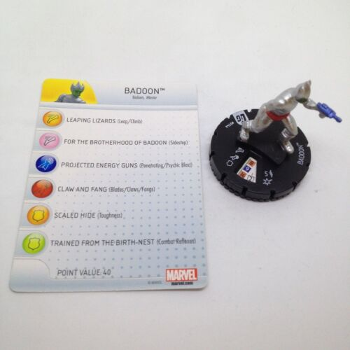 Heroclix Guardians of the Galaxy set Badoon #014a Common figure w//card!