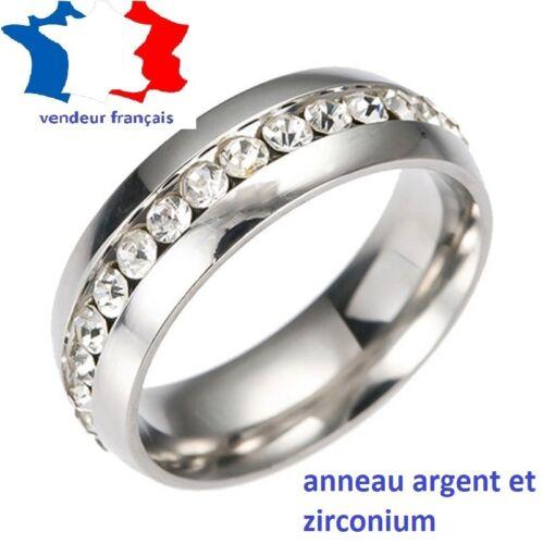 Bague Diamant Haute Qualité en Acier Inoxydable Pour Hommes,Femmes .