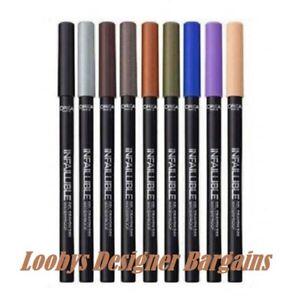 L'OREAL Infallible Gel Crayon Waterproof Eyeliner - CHOOSE SHADE - NEW