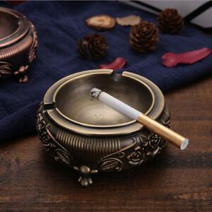 European-Style-Ashtray-Portable-Ashtray-Metal-Bronze-Textured-Ashtray-Novelty