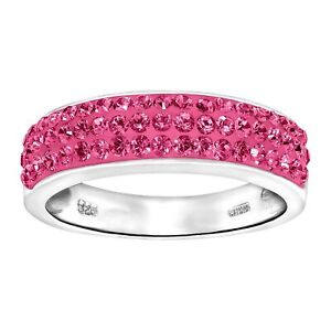 Crystaluxe-Band-Ring-with-Pink-Swarovski-Crystals-in-Sterling-Silver