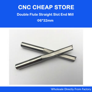 2 Flute Straight Bit Woodworking Tools Router Endmill Milling Cutter 32mm