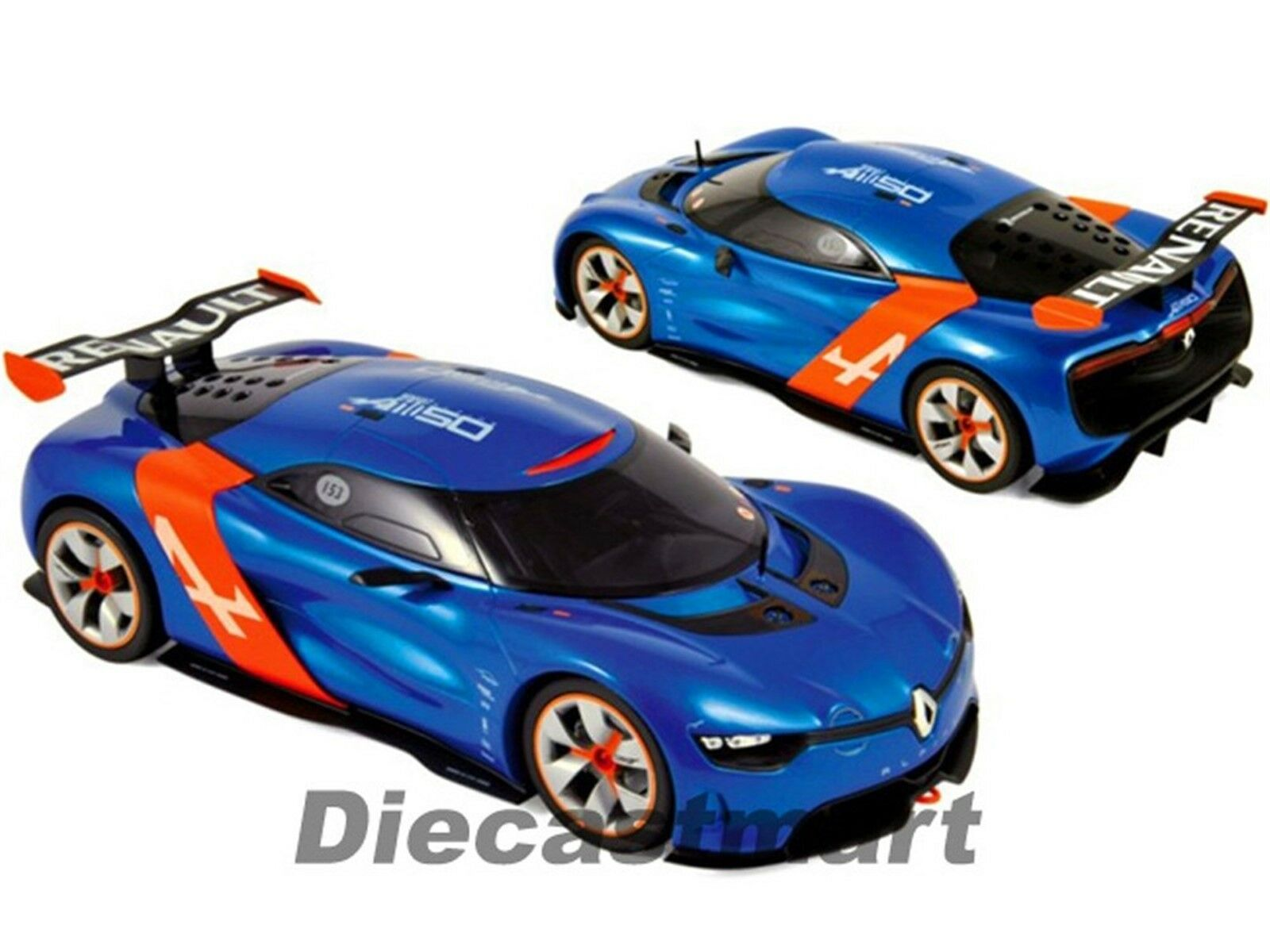 2012 Renault Alpin A110-50 1 18 Petite Voiture par Norev 185147 Bleu Orange