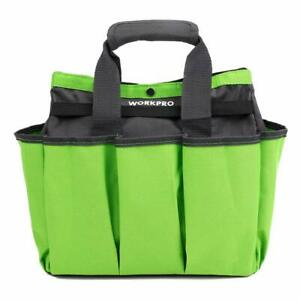 WORKPRO Garden Tool Bag Garden Tote Bag with 8 Oxford Pockets for Indoor and ...