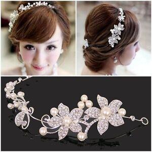 Shining-Clear-Rhinestone-Faux-Pearl-Flower-Party-Bridal-Headband-Tiara-Headwear