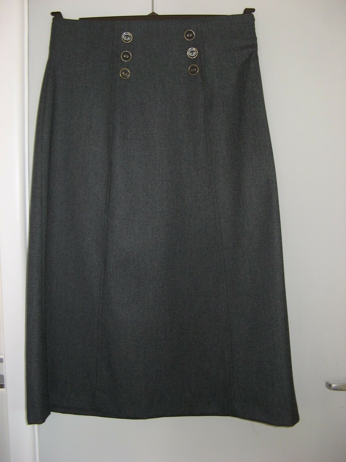 NEW LAURA ASHLEY WOMENS LADIES MID GREY SKIRT SIZE 8