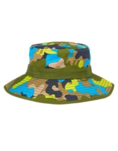 GYMBOREE DINO DAY CAMP GREEN CAMOUFLAGE DINO SUN HAT 6 12 24 2 3 4 5 NWT-OT