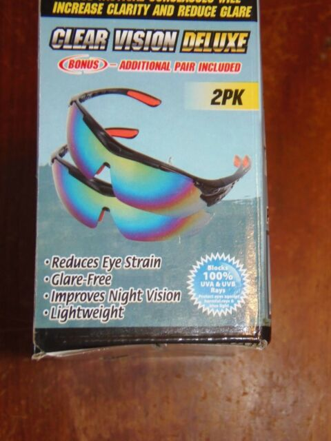 dbc64d76d2 2 PK Clear Vision Deluxe Tactical Sunglasses W  Carry Bags Glare Clarity
