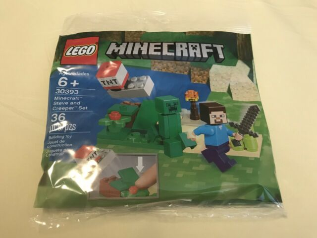 NEW Lego Minecraft 30393 Polybag Steve and Creeper Set