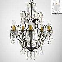 Crystal Chandelier Lighting W/candle Votives H27 X W21for Indoor/outdoor Use