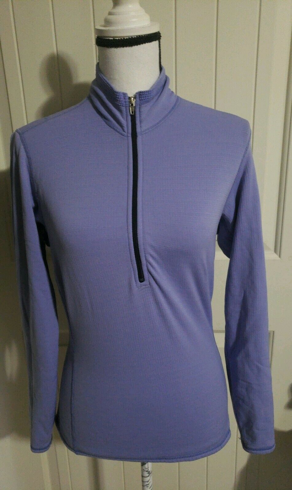 Patagonia Periwinkle Purple Pull Pull Pull Over Sweater Women Size Small S bb6b54