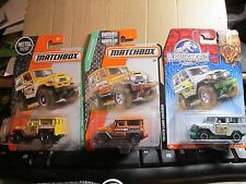 Matchbox '68 Toyota Land Cruiser Jurassic World,120 TOYOTA CRUISER,ORANGE TOYOTA