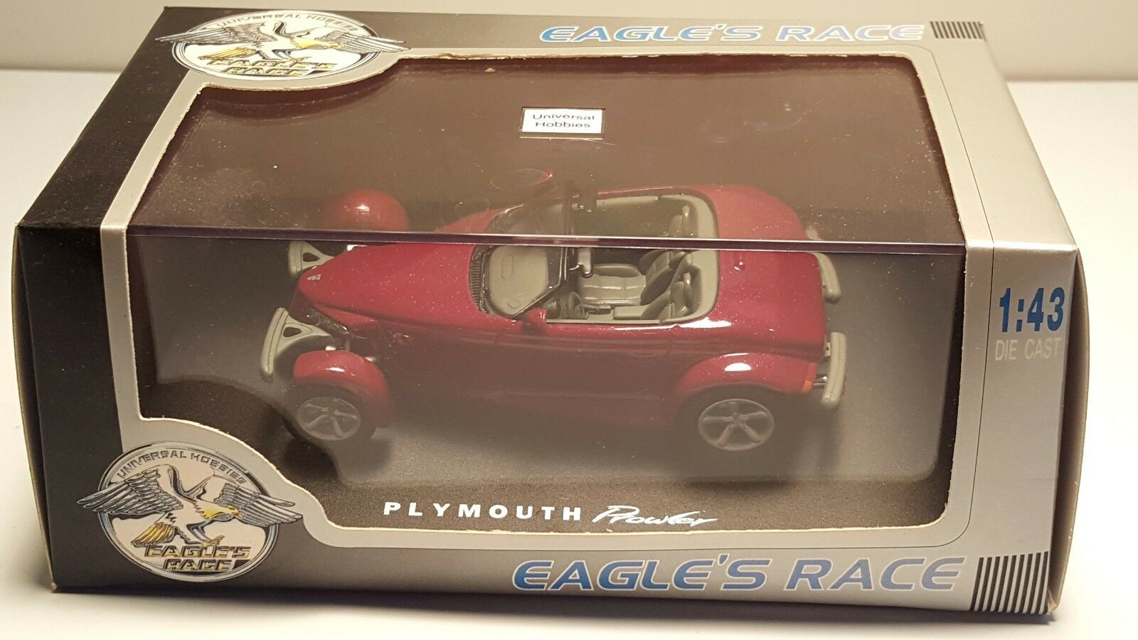 Universal Hobbies Plymouth Prowler Eagle's Race rosso 1 43 Diecast Coche Converdeible