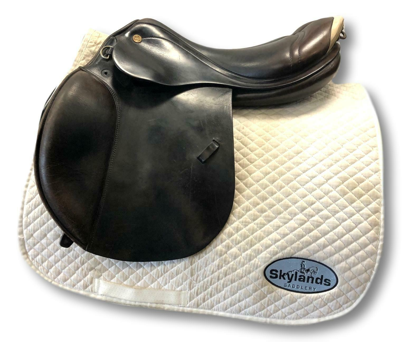 Used Prestige Jump Saddle  Havana with Ivory  16