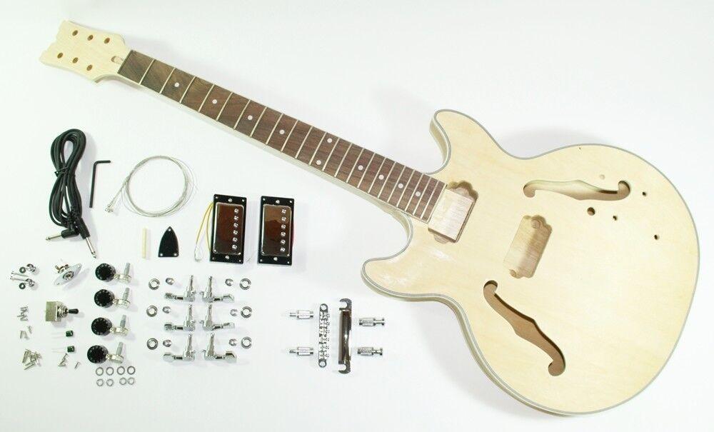 Kompletter Bausatz für E Gitarre - Jazz / Blaus