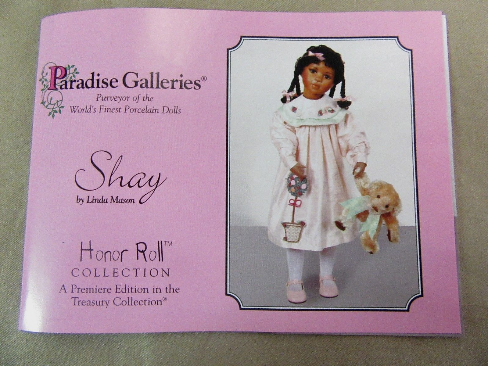 24  Paradise Galleries Shay by Linda Mason Porcelain Doll Treasury Collection