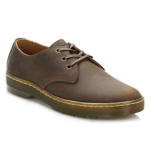 Up Smart Derby Mens Brown Leather Lace Dr Martens Shoes Casual x0qHIP