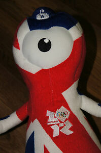 Official Wenlock Union Jack 2012 London Olympic Games Mascot Plush Toy 32cm - Kalisz, Polska - Official Wenlock Union Jack 2012 London Olympic Games Mascot Plush Toy 32cm - Kalisz, Polska