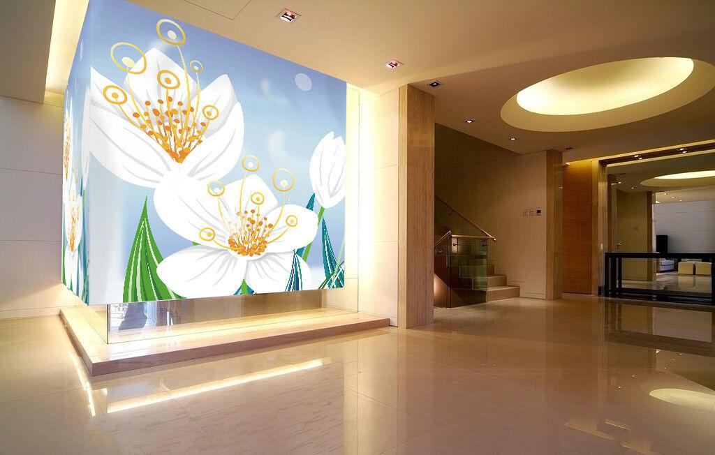 3D Flowers Cartoon 434 Wall Paper Wall Print Decal Wall Deco Indoor Mural Lemon