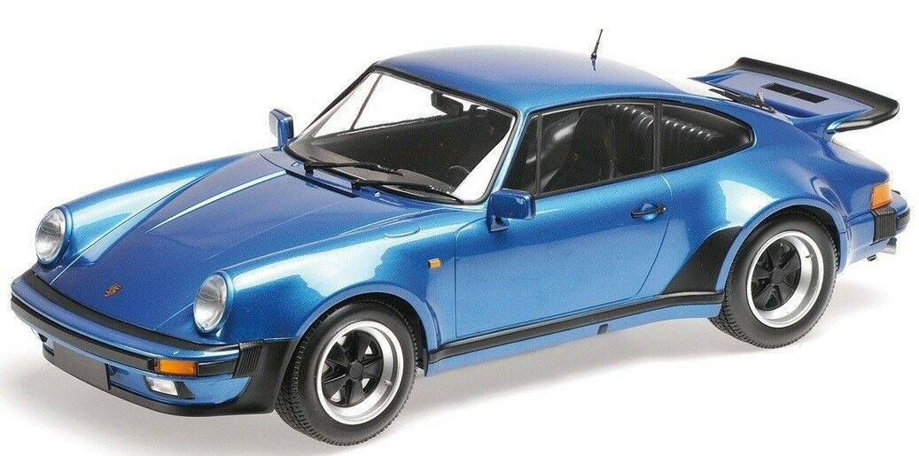 MNC125066104 - Voiture sportive PORSCHE 911 Turbo de 1977 Coloreee blu  - 1 12