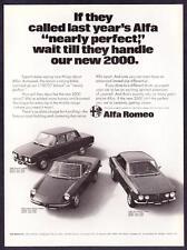 1972 Alfa Romeo 2000 Berlina, Spider Veloce & GT Veloce Coupe photo vintage Ad