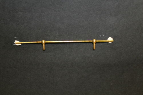 DOLLS HOUSE Solid Brass  Curtain Rail  95mm